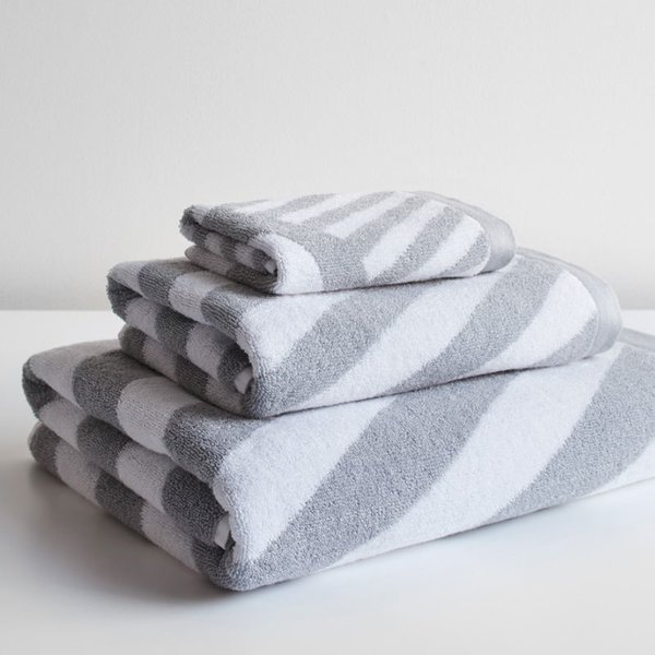 Milano Gray Bath Towel