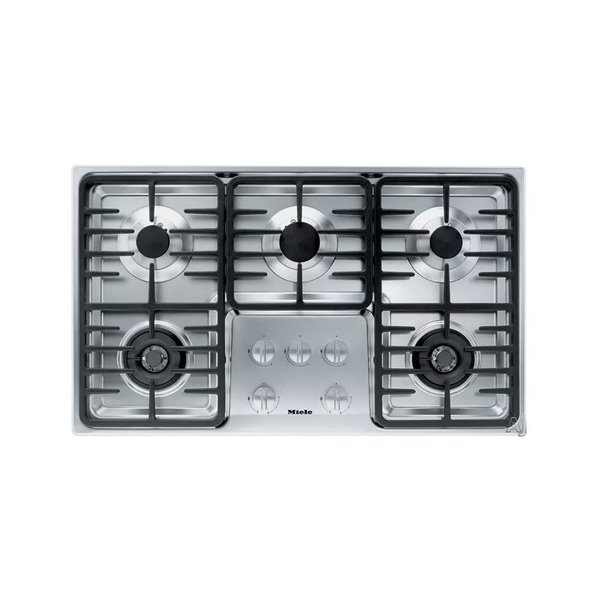 "Miele 36"" Stainless Steel Gas Cooktop"
