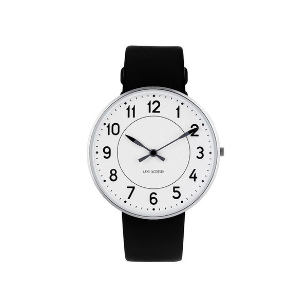 Rosendahl Station Wristwatch - White Face/Black Leather