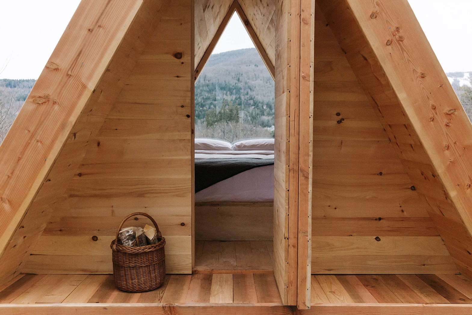 Exterior, A-Frame RoofLine, Wood Siding Material, and Cabin Building Type  Eastwind Hotel & Bar