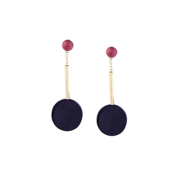 Accompany Black Horn Nairobi Drop Earring