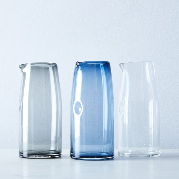 The Shelter Collection Handblown Glass Pitcher
