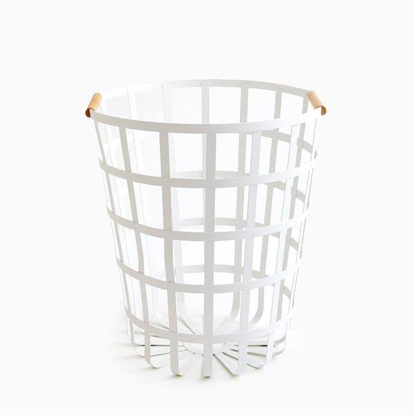 Tosca White Round Laundry Basket