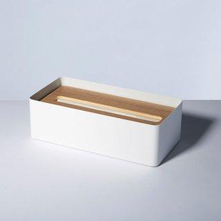 Unison Rin White Tissue Box Cover