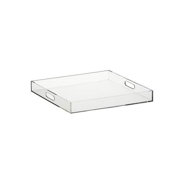 CB2 Acrylic Clear Square Tray
