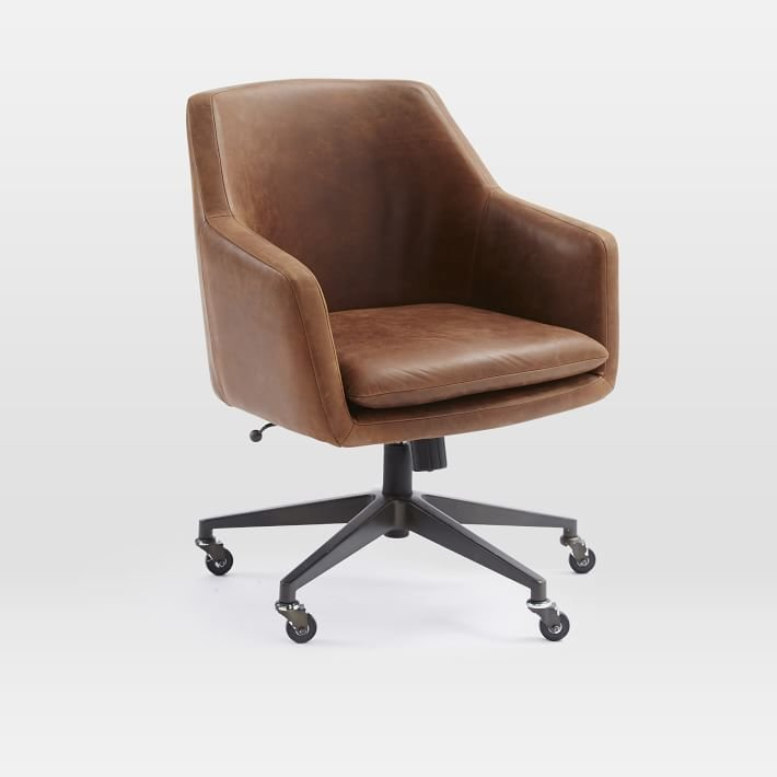 West Elm Helvetica Leather Office Chair