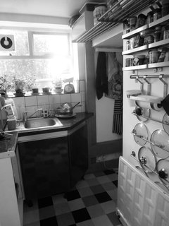 The kitchen was previously housed in a lean-to off the back of the cottage.