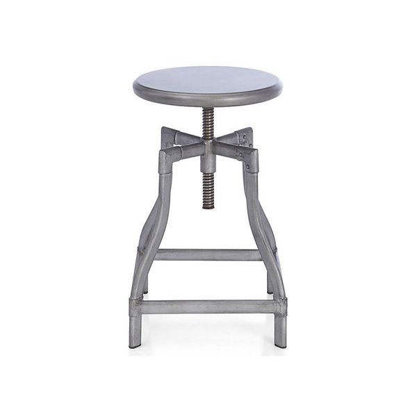 Crate & Barrel Turner Gunmetal Bar Stool
