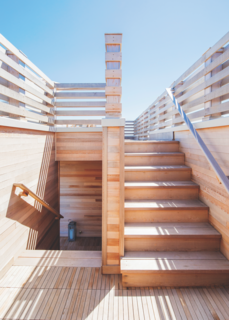 Western Red Cedar naturally resists rot, decay, and insects. Architect Jeff Jordan also chose to leave the wood unfinished, a prominent part of the house's look.