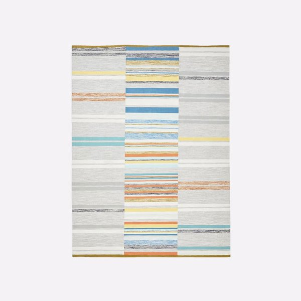 West Elm Mixed Stripes Cotton Dhurrie - Multi