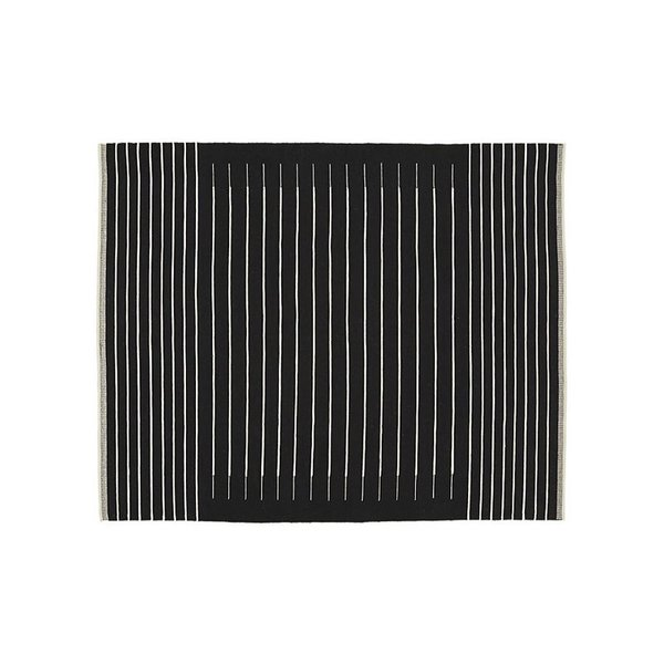 CB2 Black With White Stripe Rug