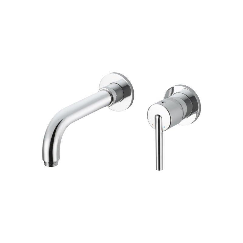 Delta Faucet Trinsic Single Handle Wall Mount Bathroom Faucet Trim ...