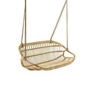 Serena & Lily Hanging Rattan Bench