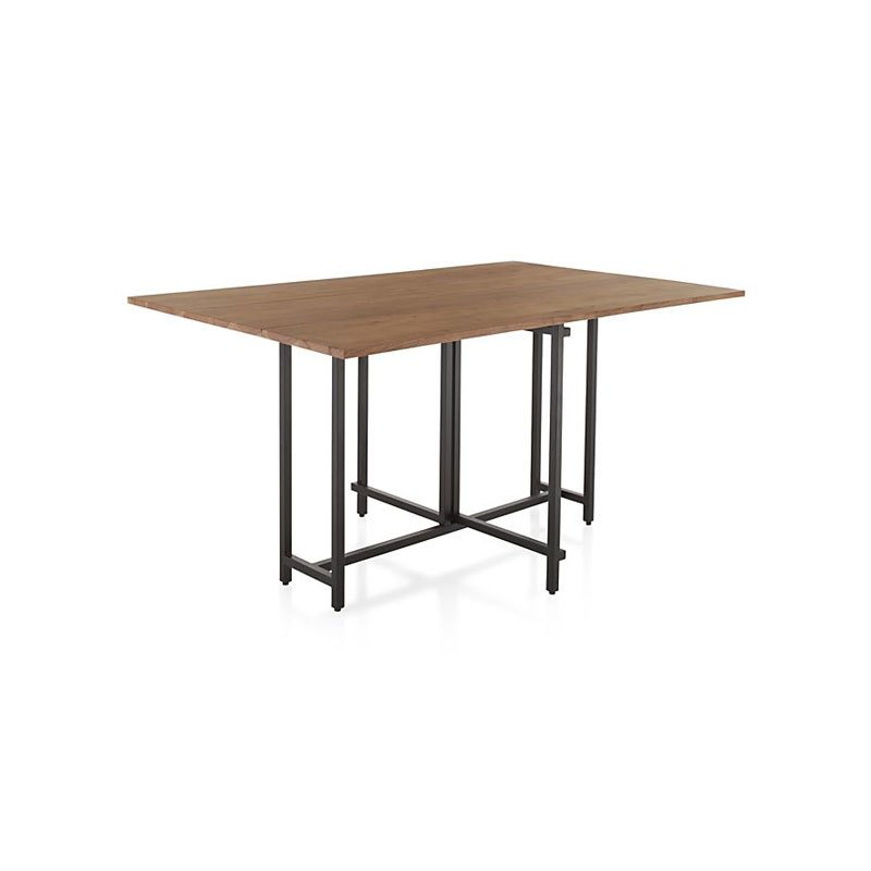 Crate Barrel Origami Drop Leaf Rectangular Dining Table