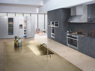 """It's easy to make something look sexy but to actually live in it...it's important to design it right,"" says Tosdevin. Not only do Miele Ranges offer harmonious design with any setting, but also intuitive controls and extraordinary automation, creating both a beautiful and high functioning cooking space."