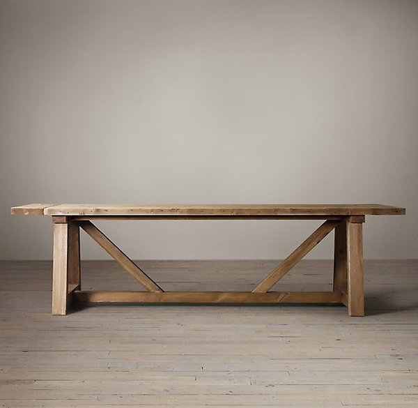 Restoration Hardware Salvaged Wood Beam Rectangular Extension Table