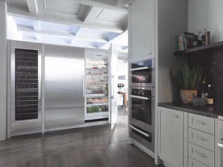Miele's MasterCool appliances greet users with a food-driven menu system that is easy to view and adjust for each of its independent cooling zones, maintaining optimum conditions for specific foods.