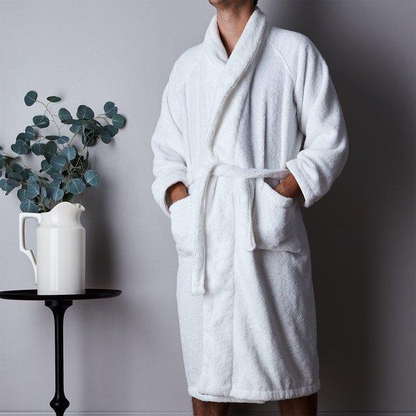Snowe Unisex White Plush Bathrobe