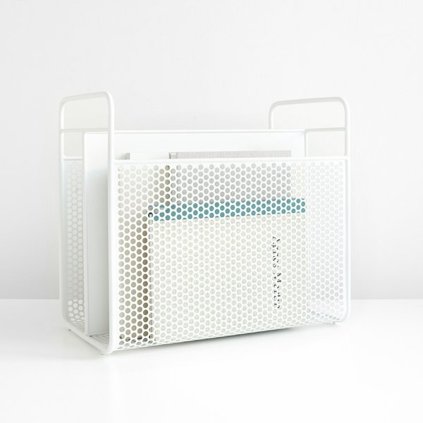 Analog White Magazine Rack