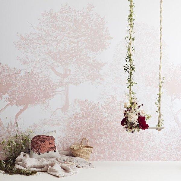 Sian Zeng Classic Hua Trees Mural Wallpaper Pink