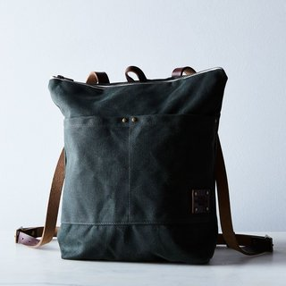 Red House Waxed Canvas Backpack