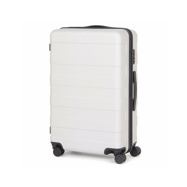 Muji Adjustable Handle Hard Carry Suitcase 62L - Light Gray