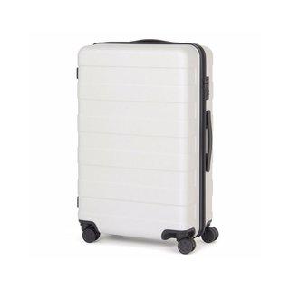 Muji Adjustable Handle Hard Carry Suitcase 62L - Light Gray