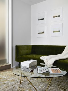 The living room cashmere throw is from Crate & Barrel.