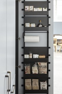 The Interior Component's back-of-door rack can be configured with a combination of shelves and rods.