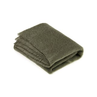 Bronte Moon Mohair Throw - Moss Green