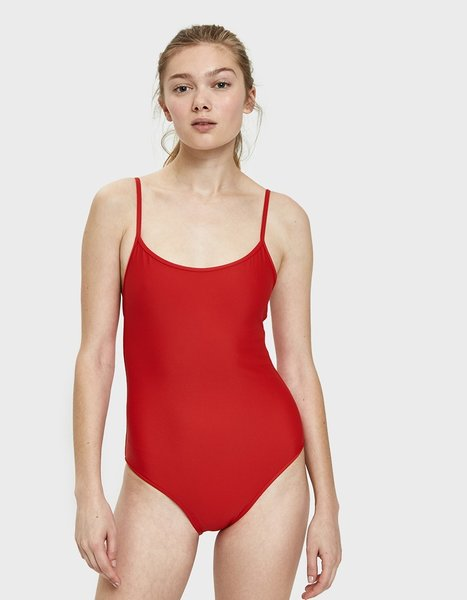 Nu Swim Noodle Swimsuit in Poppy