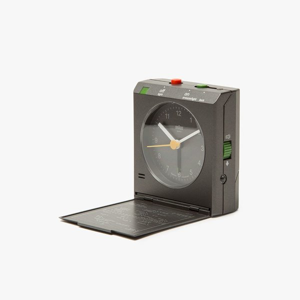 Braun BNC005 Travel Alarm Clock in Grey
