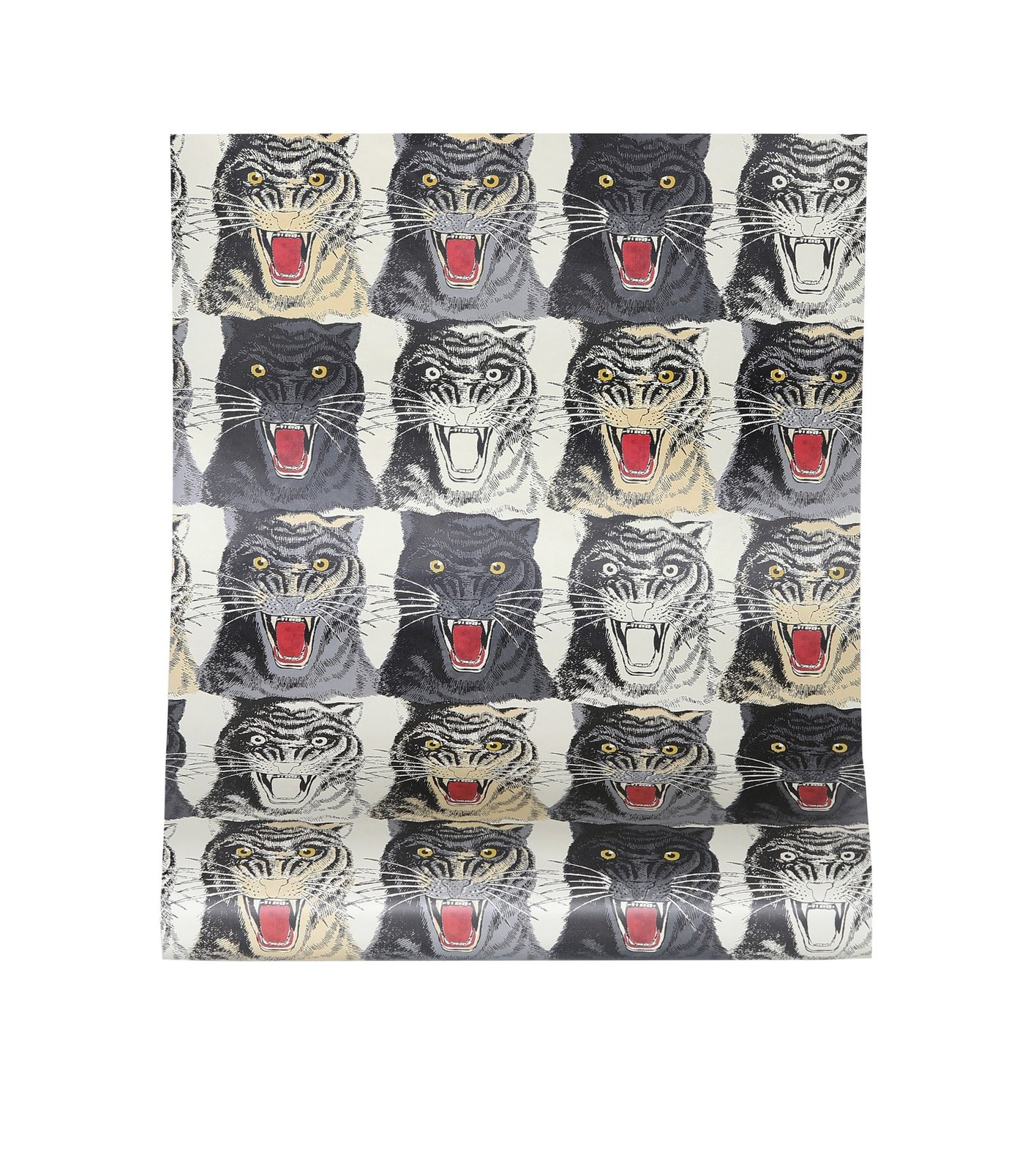 Gucci Tiger Face Printed Wallpaper By Mytheresa Dwell