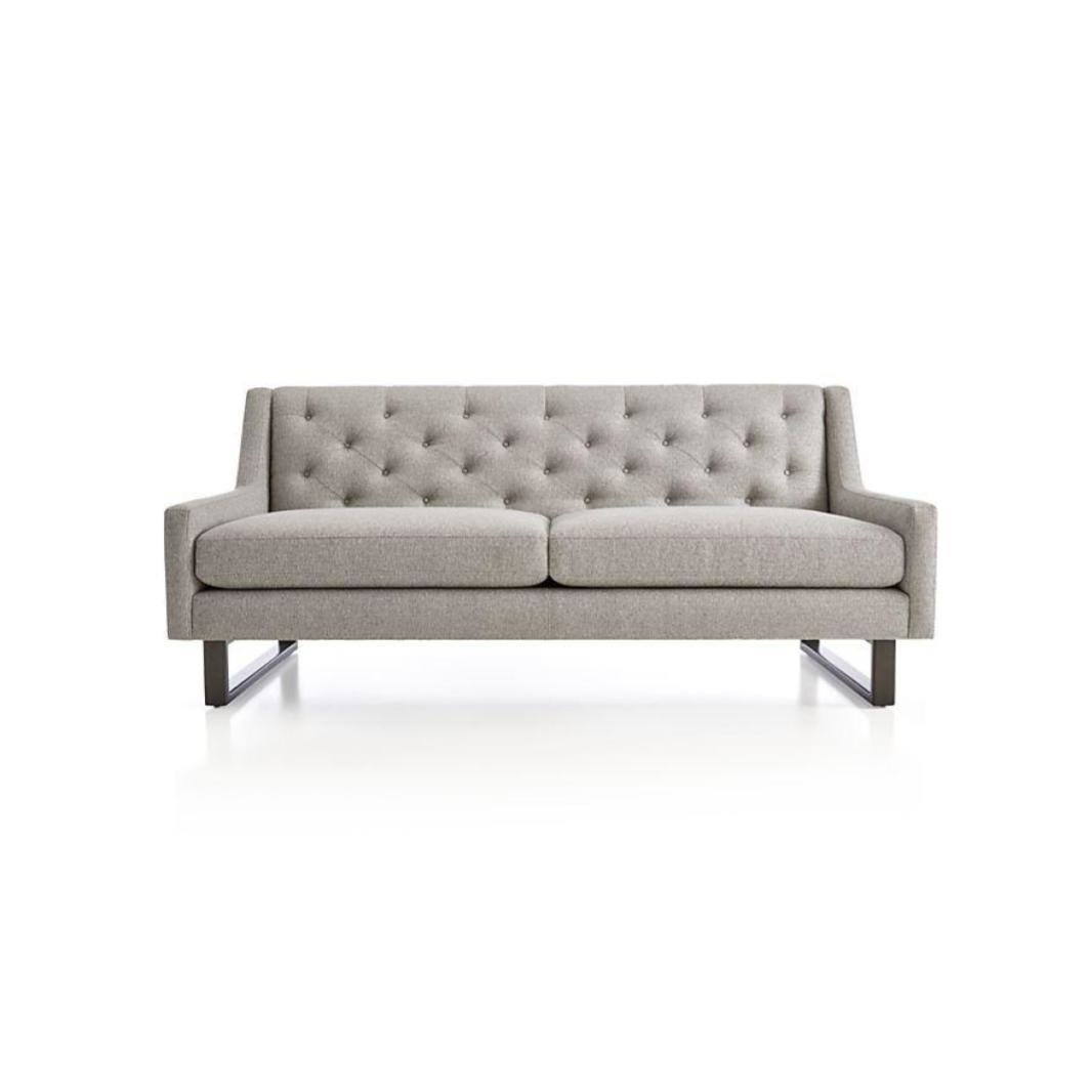 Crate Barrel Jourdan Tufted Apartment Sofa By Crate And Barrel Dwell