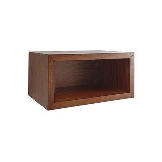 Crate & Barrel Aspect Walnut Floating Cube Shelf - 23.75''