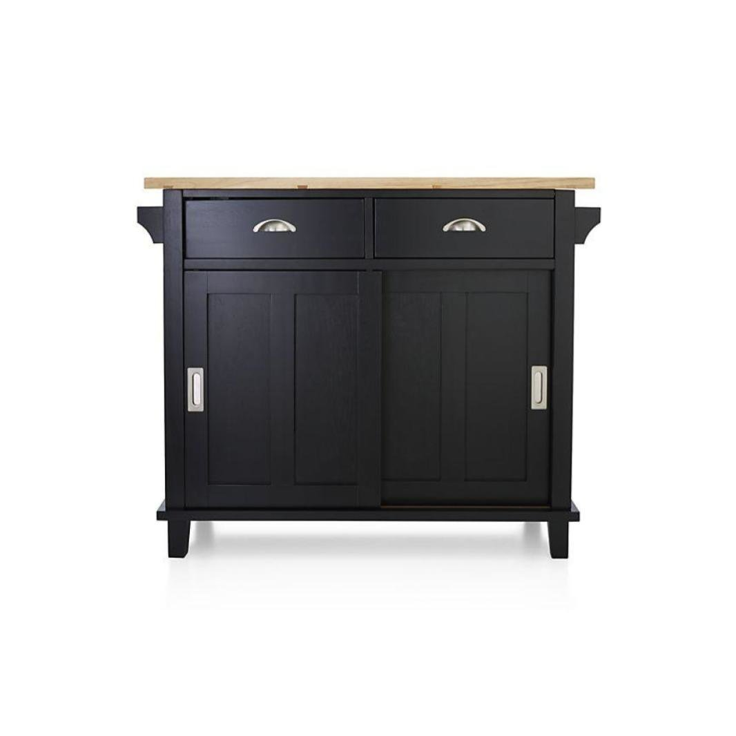 Charmant Crate U0026 Barrel Belmont Kitchen Island   Black
