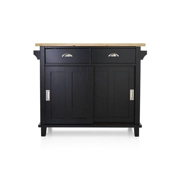 Crate & Barrel Belmont Kitchen Island - Black