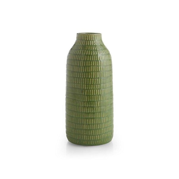Crate & Barrel Verde Green Vase