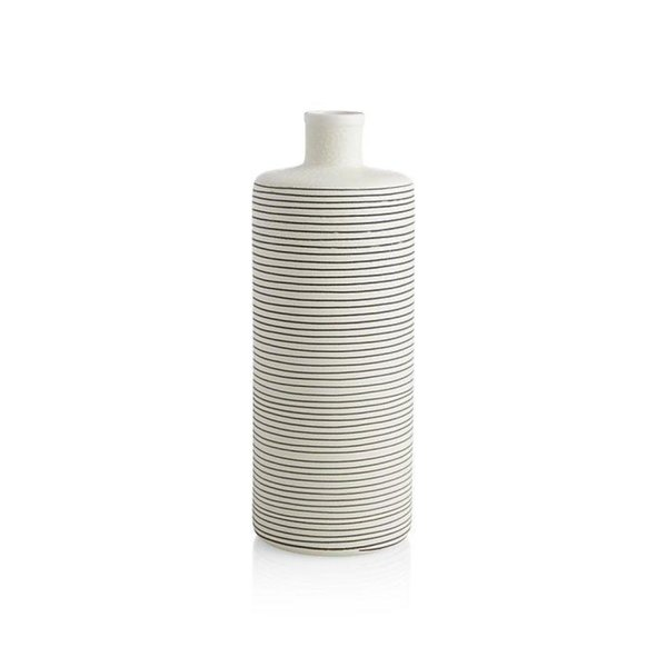Crate & Barrel Raya Cream Bottle Vase