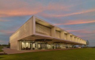 Fayetteville, Arkansas–based Marlon Blackwell Architects thinks outside the box. For the Shelby Farms Park Visitor Center in Memphis, Tennessee—located in the largest urban park in the U.S.—the firm brought together buildings, lake, and landscape through a common material palette. The aluminum bar grate cladding the building references the architecture of agricultural structures while allowing air to enter.