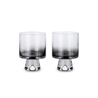 Tom Dixon Tank Low Ball Glasses Black x2