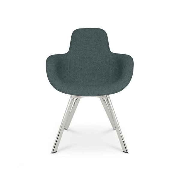 Tom Dixon Scoop Chair High Back Chrome Leg