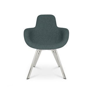 Tom Dixon Scoop Chair High Back Chrome Leg