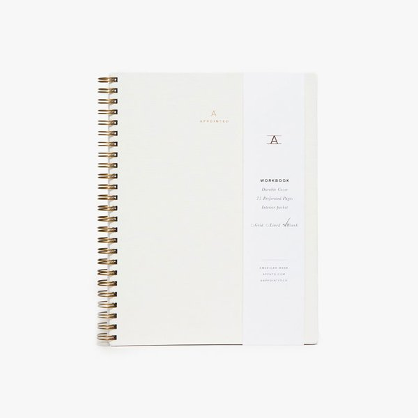 Appointed Workbook in Canvas White
