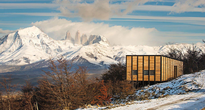 Exterior, Wood Siding Material, and Shed RoofLine  Awasi Patagonia
