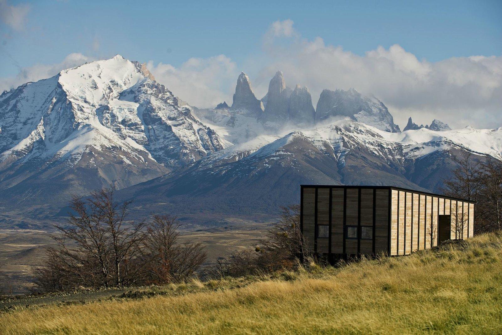 Exterior, Shed RoofLine, and Wood Siding Material  Awasi Patagonia