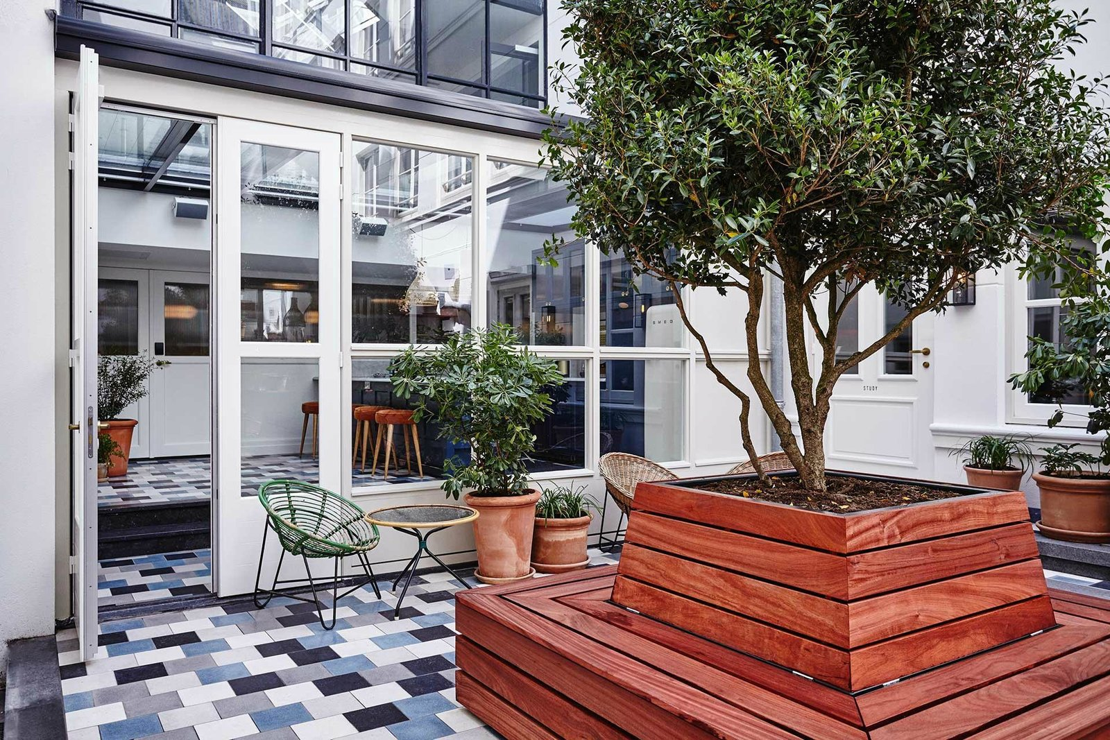 Outdoor, Small Pools, Tubs, Shower, Planters Patio, Porch, Deck, and Trees  The Hoxton Amsterdam