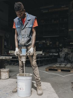 See How Artisans in the Italian Alps Make This High-Design Concrete Lamp - Photo 3 of 18 -