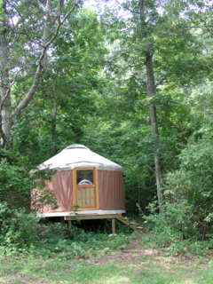 After staying in a friend's East Hampton yurt for six summers, Berg was inspired to build his own home in the area.