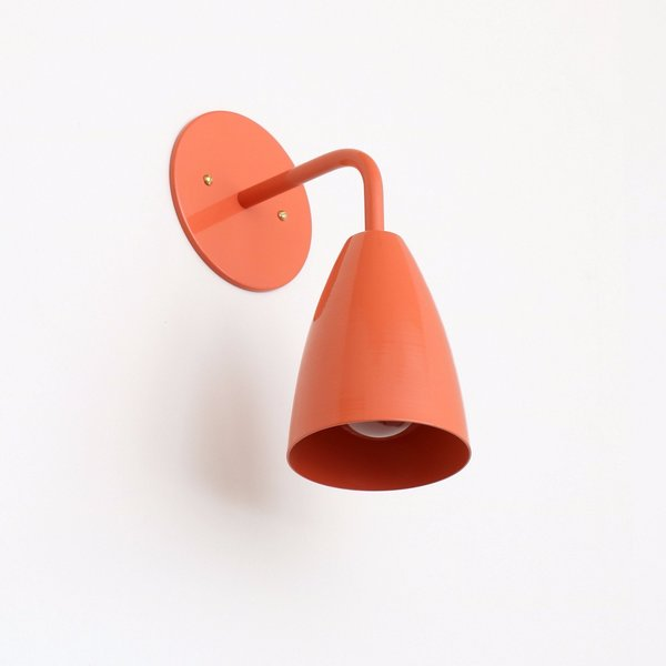 Onefortythree Shaded Sconce: Solid Color